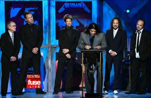 Metallica betreten die Rock N Roll Hall Of Fame