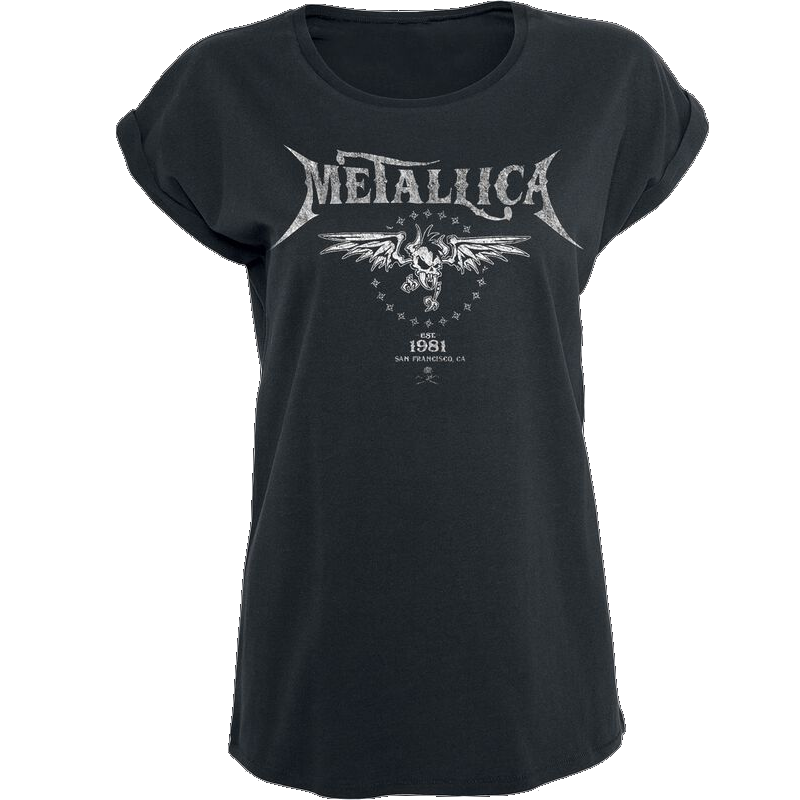 Metallica Biker Girl-Shirt schwarz