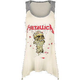 Metallica EMP Signature Collection Girl-Top creme/grau meliert