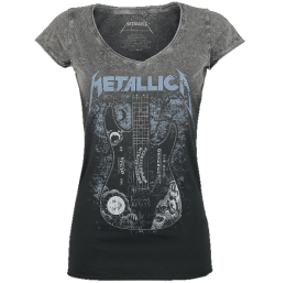 Metallica Ouija Guitar Girl-Shirt schwarz/grau